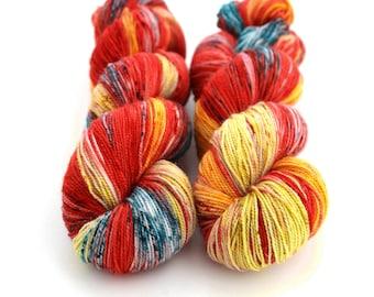 Sparkle Sock Yarn, Hand Dyed, Speckled, Superwash Merino Nylon, Fingering Weight, Pixie Sock 100 g / 438 yds - Ariel *In Stock