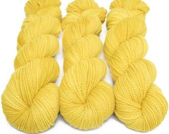 Corriedale Alpaca DK Yarn, Speckled Hand Dyed, 80/20 Corridale/Alpaca, Non-superwash, Upstate DK, 100g 260 yds - Golden Hour *In Stock