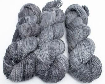 Corriedale Alpaca DK Yarn, Speckled Hand Dyed, 80/20 Corridale/Alpaca, Non-superwash, Upstate DK, 100g 260 yds - Rolling Stone *In Stock