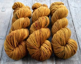 MCN DK Yarn, Speckled Hand Dyed, Superwash Merino Cashmere Nylon, Double Knitting, Bliss MCN dk, 100g 231 yds - Oh Honey Honey *In Stock