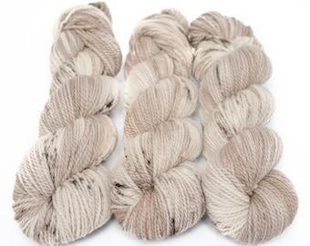 Corriedale Alpaca DK Yarn, Speckled Hand Dyed, 80/20 Corridale/Alpaca, Non-superwash, Upstate DK, 100g 260 yds - Crimini *In Stock