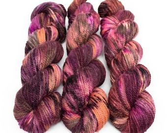 Corriedale Alpaca DK Yarn, Speckled Hand Dyed, 80/20 Corridale/Alpaca, Non-superwash, Upstate DK, 100g 260 yds - Elton *In Stock