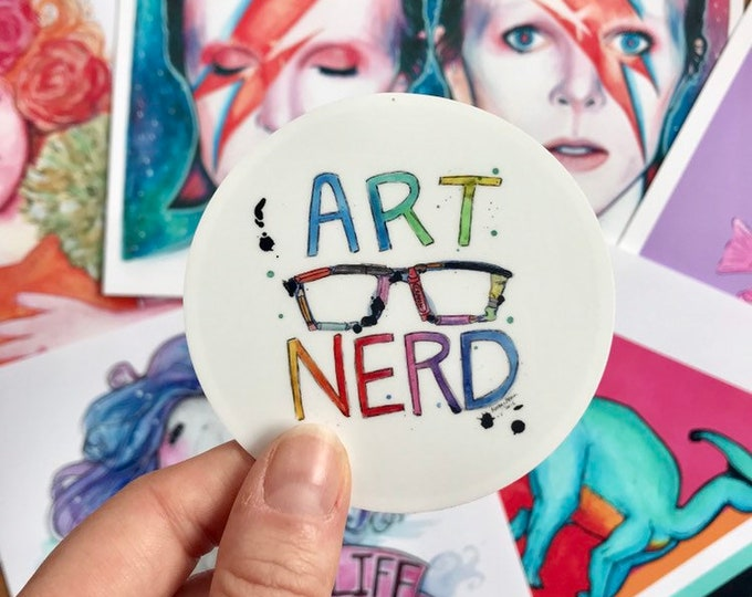"""Art Nerd Vinyl Sticker 3"""" Sticker"""