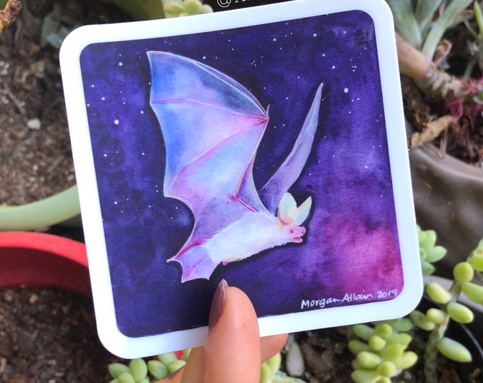 Crystal Space Bat Vinyl Sticker 3x3""