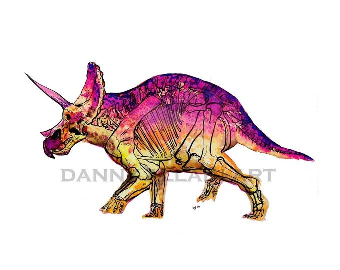 Triceratops Bones Art Print