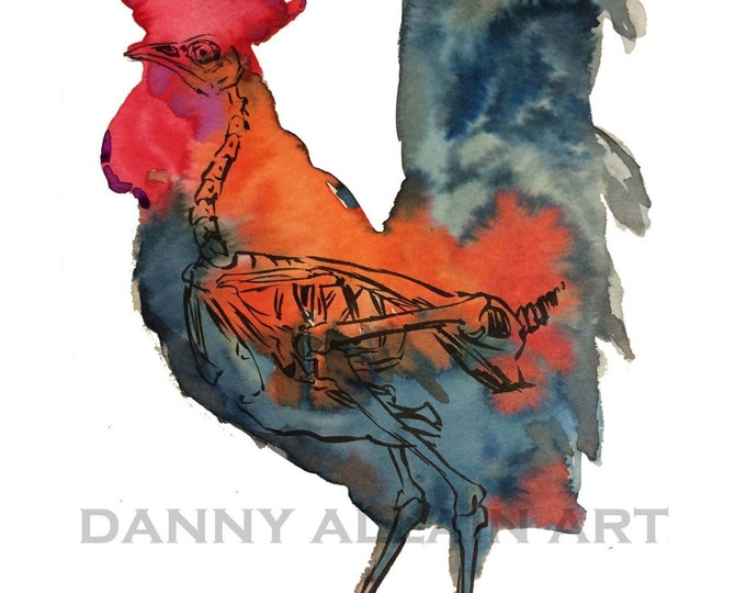 Rooster Bones Art Print