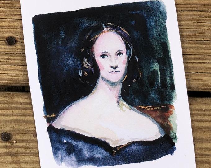 Mary Shelley Art Print 5x7