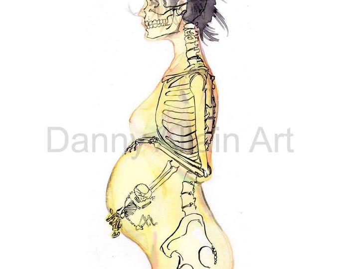 Mother Bones Art Print