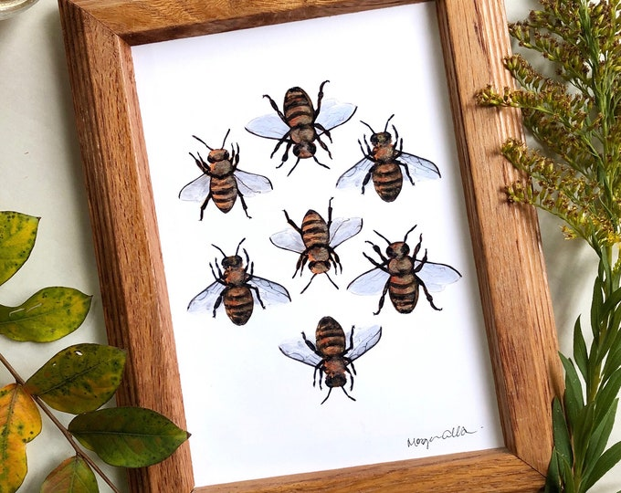 Sweet Honeybee Art Print