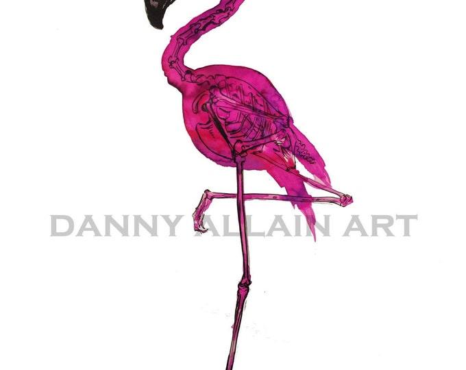 Flamingo Bones Art Print