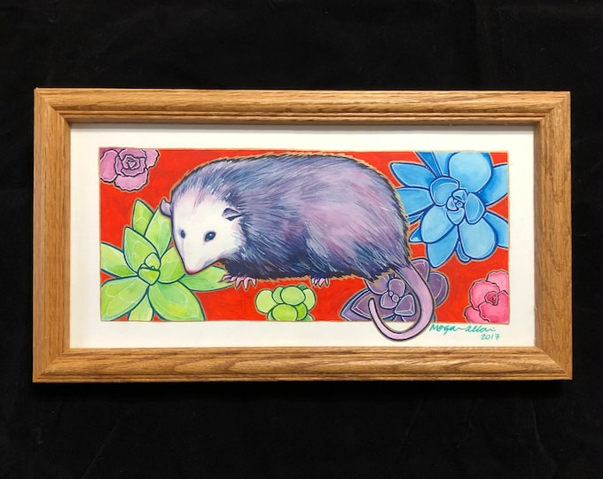 Opossum My Possum Original Watercolor