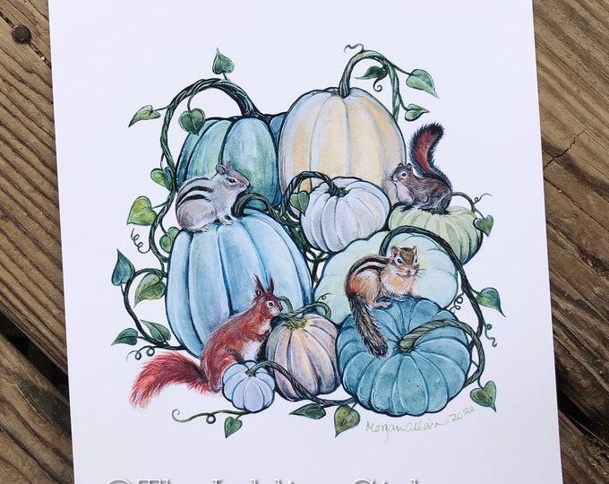 Squash and Squirrels 8x10 Print