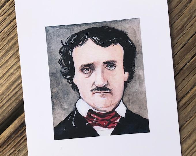 Edgar Allan Poe Art Print 5x7