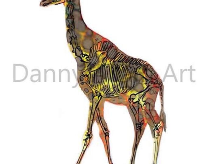 Giraffe Bones Art Print