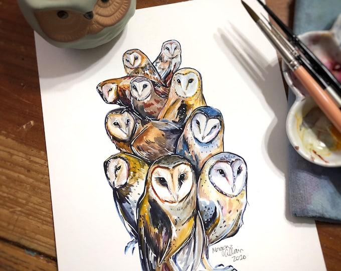 Extraterrestrial Owls 8x10 Print