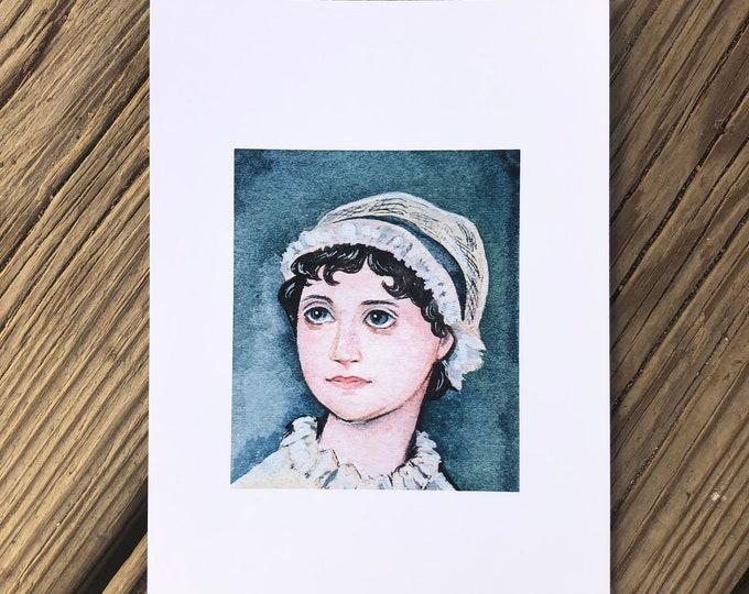 Jane Austen Art Print 5x7