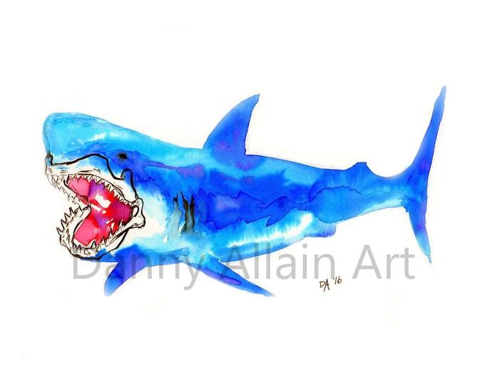 Great White Shark Bones Art Print