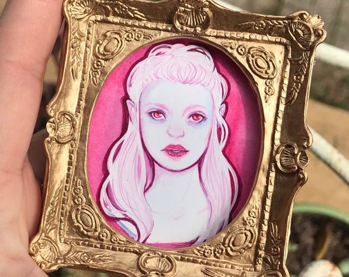 Oriana Fae Lady Mini Painting