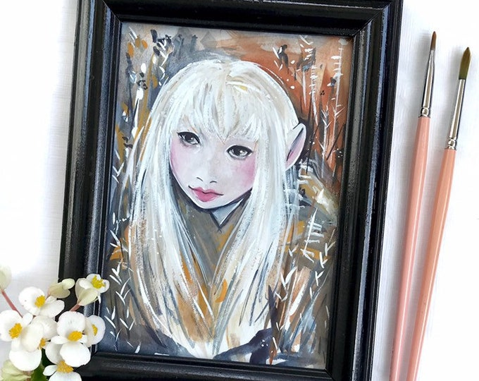 Kira Gelfling Framed Original Art 5x7