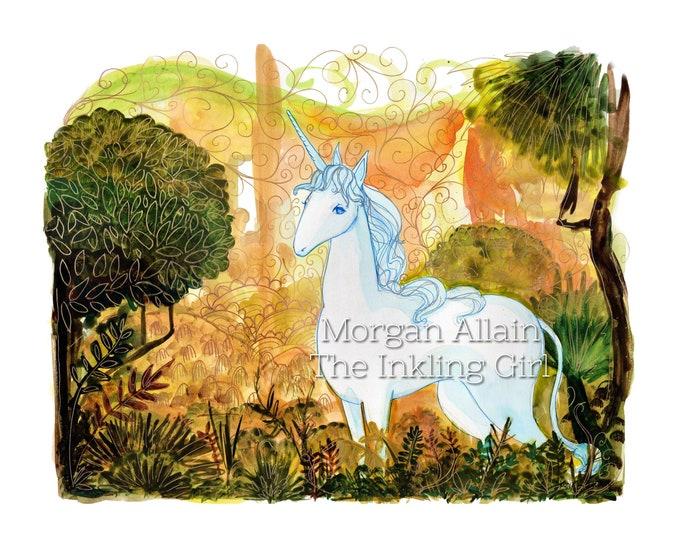 Unicorn 8x10 Print