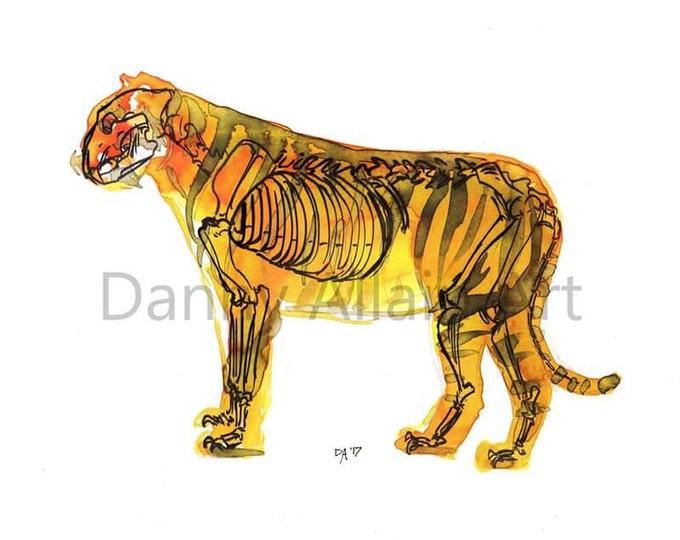 Tiger Bones Art Print