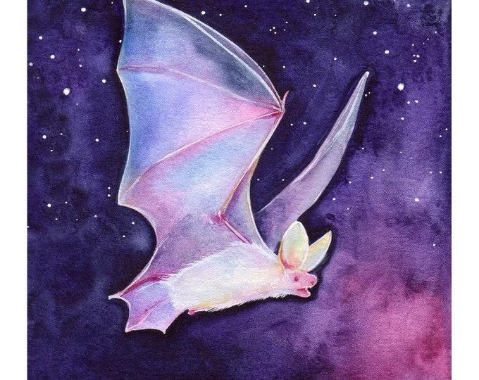 Crystal Space Bat Art Print 5x5