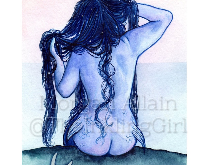 Blue Lagoon Mermaid 5x7 Print