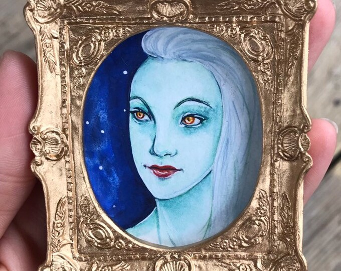 Pixie Fae Lady Mini Painting