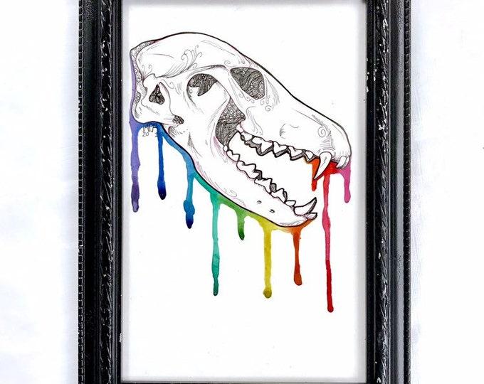 "Skull Candy Vixen Original Art 6.5x10"""