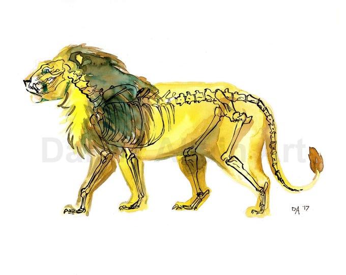 Lion Bones Art Print