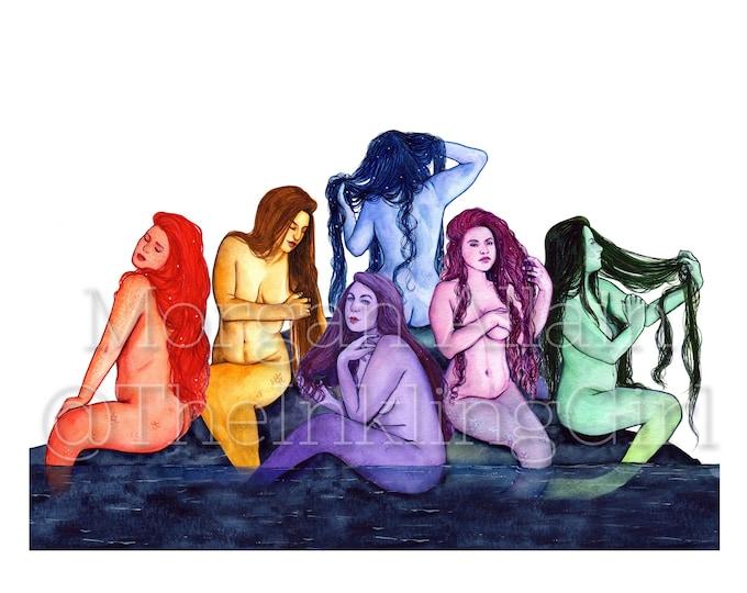 Mermaid Rainbow 13x19 Poster