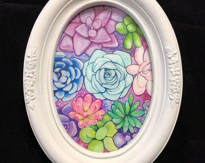 Pink Botanical Original Watercolor