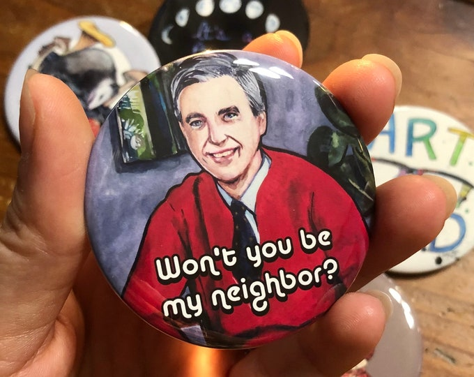 Mr Rogers Button Pin