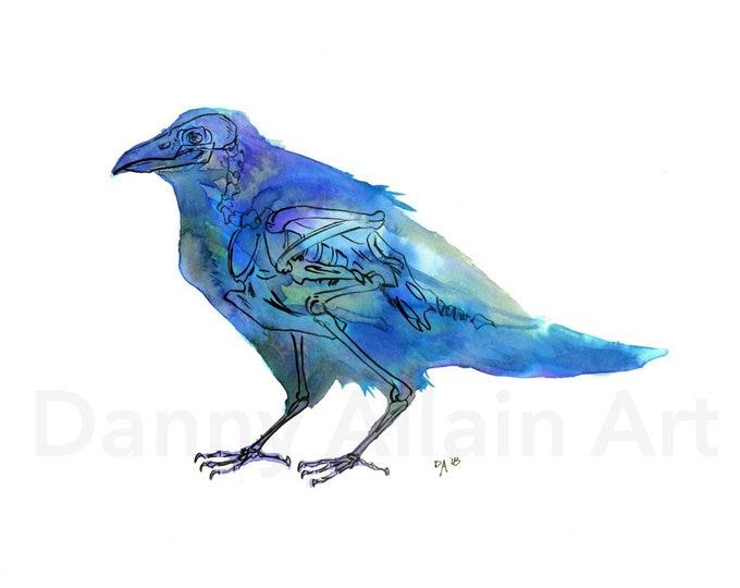 Raven Bones Art Print
