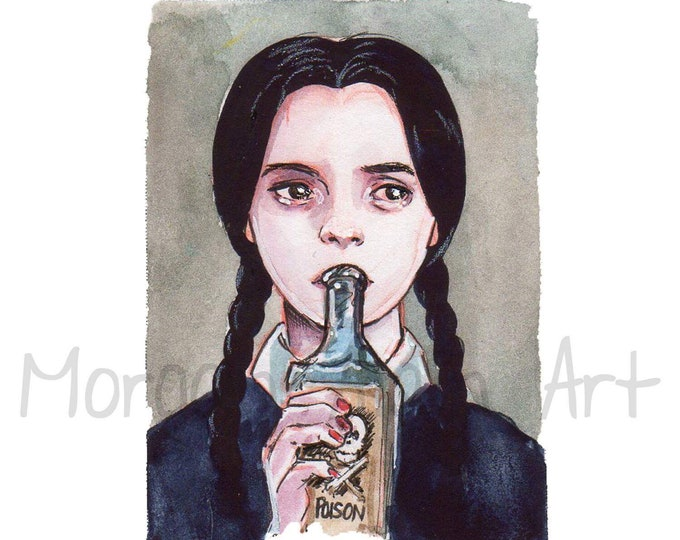 Wednesday Addams Art Print 5x7