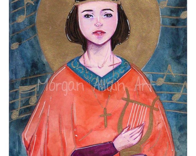 Saint Cecelia Art Print