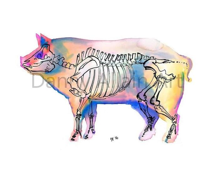 Pig Bones Art Print