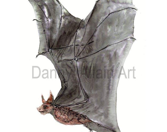 Bat Bones Art Print