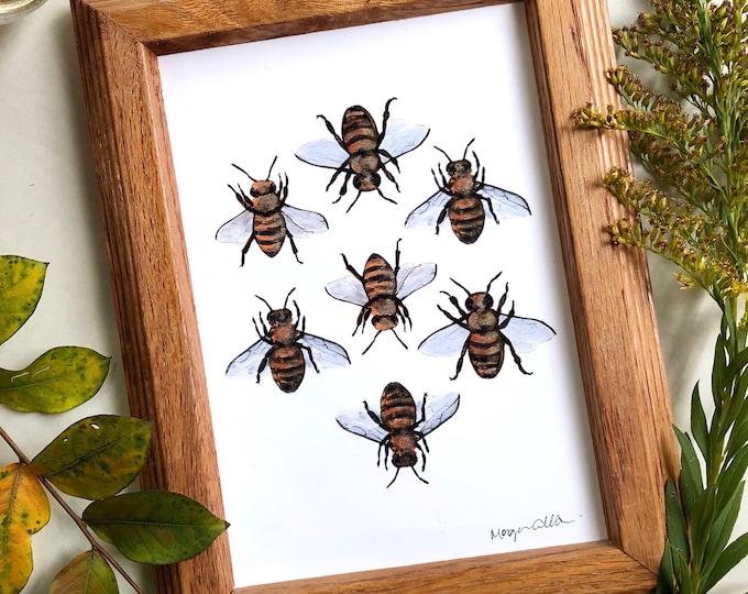 Sweet Honeybee Art Print