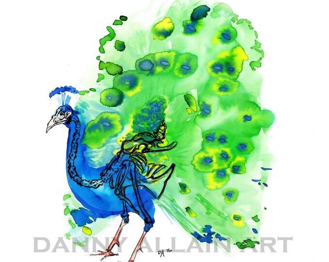 Peacock Bones Art Print