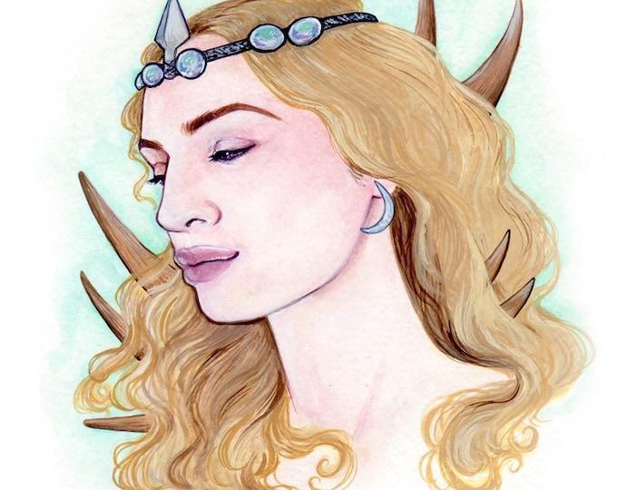 Artemis Original Watercolor 6 Inch Square