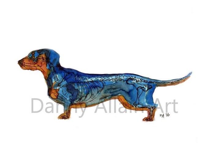 Dachsund Bones Art Print