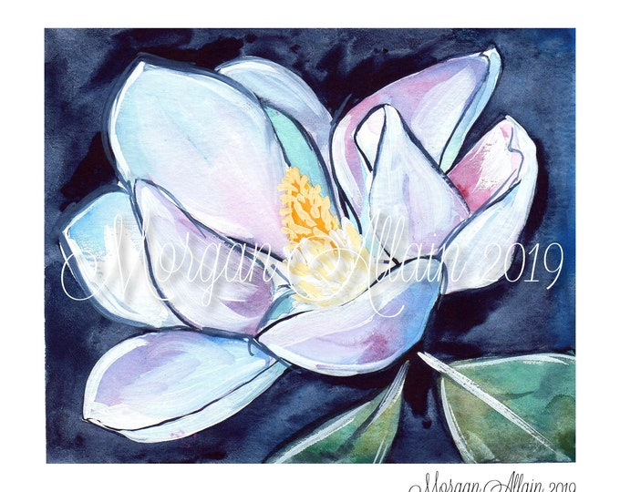 Louisiana Magnolia Bloom 8x10 Art Print