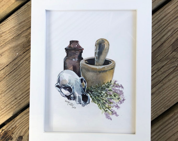 Apothecary 6x8 Framed Watercolor