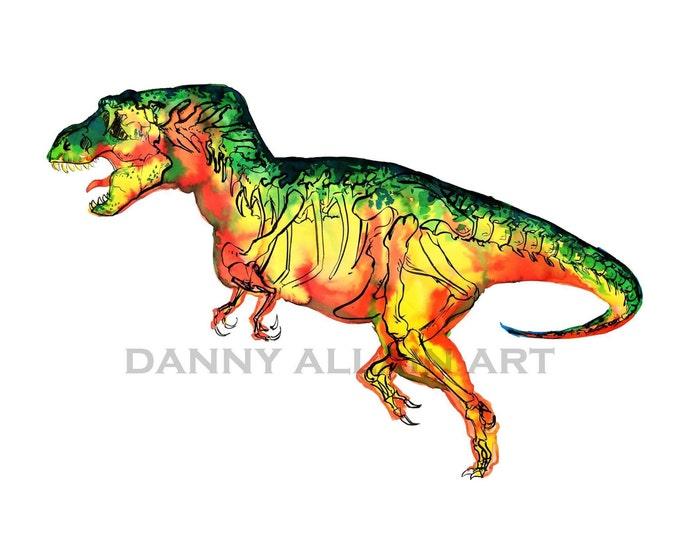 Tyrannosaurus Rex Bones Art Print