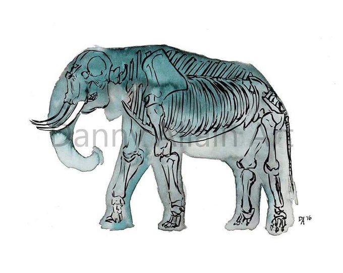 Elephant Bones Art Print