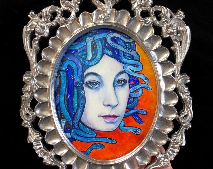 Blue Medusa Original Watercolor