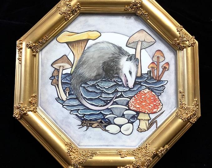 Opossum Kingdom Original Watercolor