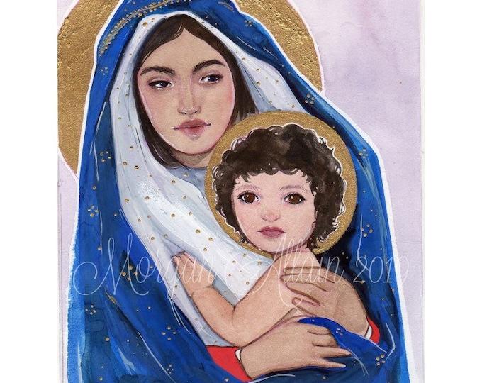 Madonna and Child 5x7 Art Print
