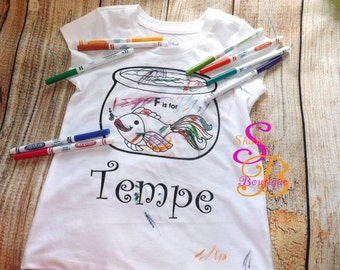 Coloring Page Shirts, washable